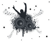 Music Hands Up. Vector Illustration Royalty Free Stock Images