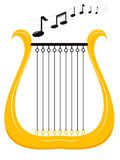 Music harp Stock Images
