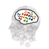 Music head creative concept illustration Royalty Free Stock Photo