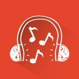 Music headphone Stock Image