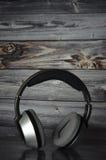 Music Headphone DJ. Listen to music - wireless headphones Royalty Free Stock Photos