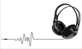Music headphones Royalty Free Illustration