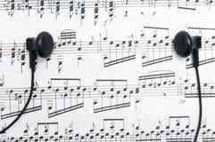 Music and headphones Stock Photos