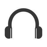 Music headphones device icon, vector illustration. Stock Photography