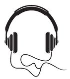 Music headphones icon Royalty Free Stock Photos