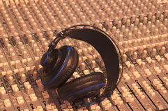 Music, Headphones, Music console Royalty Free Stock Photography
