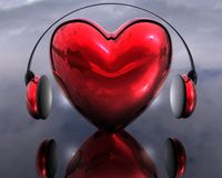 Music of the heart Stock Photo