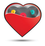 Music in heart concept vector design Royalty Free Stock Image