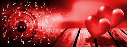 Music by heart Technology business background .Technology background. Virtual concept.