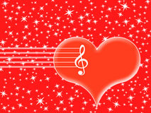 Music in the heart Royalty Free Stock Photography