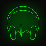 Music heartbeat Royalty Free Stock Images