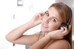 Music in her home Stock Image