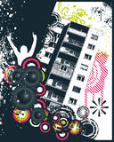 Music high rise block. Vector illustration Stock Images