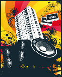 Music high rise block. Vector illustration Royalty Free Stock Photography