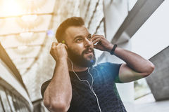 Music is his motivation. Stock Images