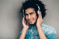 Music is his passion. Stock Images