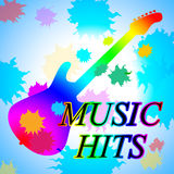 Music Hits Shows Sound Track And Audio. Music Hits Representing Sound Track And Rated Royalty Free Stock Image