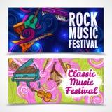 Music horizontal banners Stock Photos