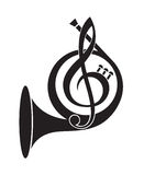 Music horn icon Stock Image