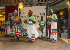 Music in hotel in gambia. Music and dancing show in Kombo Beach Hotel in Gambia stock photography