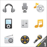 Music icon 1 vector Stock Photo
