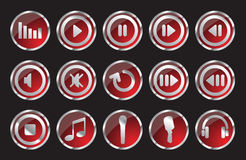 Music icon. Music symbols and icons vector icon set Royalty Free Stock Photos