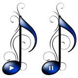 Music icon. (play, pause). Vector Royalty Free Stock Photo