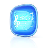 Music icon 3d Royalty Free Stock Photos