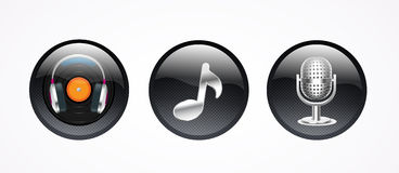 Music icon 3D,  file Royalty Free Stock Images