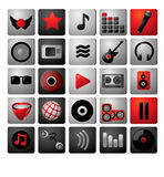Music icon archive. Stock Photos