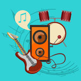 Music icon collection Royalty Free Stock Photo