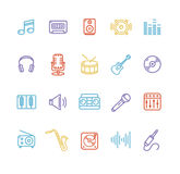 Music Icon Colorful Set. Vector Stock Photos