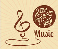 Music icon design. Music concept about sound  icons design, vector illustration 10 eps graphic Royalty Free Stock Photo