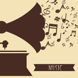 Music icon design Stock Image