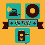 Music icon design Royalty Free Stock Photography
