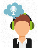 Music icon. Design, vector illustration eps10 graphic Royalty Free Stock Image