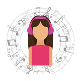 Music icon. Design, vector illustration eps10 graphic Royalty Free Stock Images