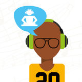 Music icon. Design, vector illustration eps10 graphic Royalty Free Stock Photos