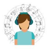 Music icon. Design, vector illustration eps10 graphic Stock Photo