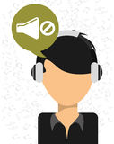 Music icon. Design, vector illustration eps10 graphic Stock Images