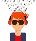 Music icon. Design, vector illustration eps10 graphic Royalty Free Stock Photo