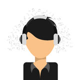 Music icon. Design, vector illustration eps10 graphic Stock Photography