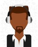 Music icon. Design, vector illustration eps10 graphic Stock Photos