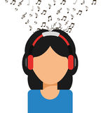 Music icon. Design, vector illustration eps10 graphic Royalty Free Stock Photography
