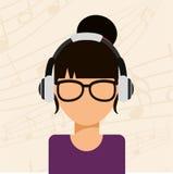 Music icon. Design, vector illustration eps10 graphic Stock Image