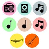Music icon designs Stock Photography