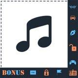 Music icon flat stock illustration