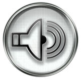 Music icon grey Royalty Free Stock Images