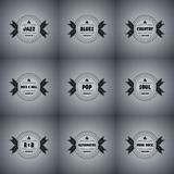 Music icon label set Royalty Free Stock Photography