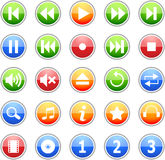 Music Icon Set Royalty Free Stock Image